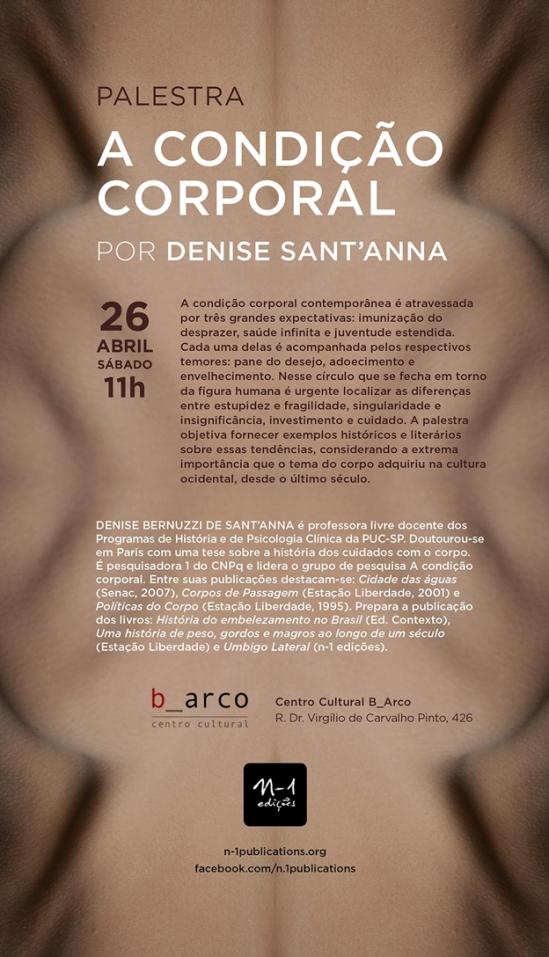 Aula aberta com Denise Santana - A condição corporal