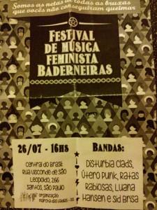 Festival de música feministas baderneiras